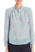 Rebecca Taylor Provence Floral-Print Cotton Top