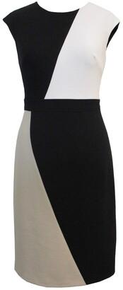 Sandra Darren Crepe Colorblock Dress
