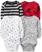 Carter's 4-Pack Long-Sleeve Bodysuits
