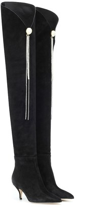 Magda Butrym Portugal suede over-the-knee boots