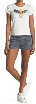 Pam And Gela Embroidered Twill Camo Shorts