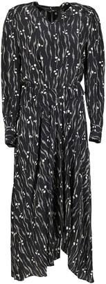 Isabel Marant Black Silk Romina Dress