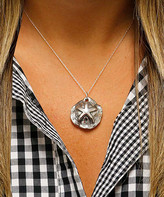 Yeidid International Women's Necklaces - Sterling Silver Tarnished Sea Shell Necklace