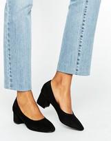 Daisy Street Black Mid Heeled Shoes
