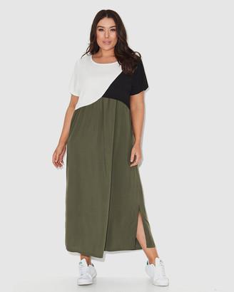17 Sundays Colour Block Maxi Dress
