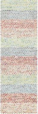 "Company C Striped Flatweave Blue/Pink Area Rug CompanyC Rug Size: Runner 2'6"" x 8'"