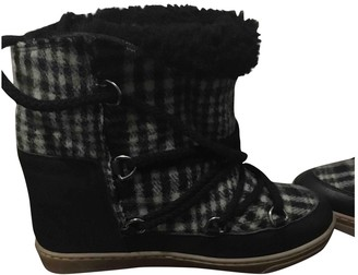 Isabel Marant Nowles Grey Tweed Ankle boots