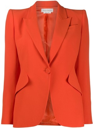 Alexander McQueen single-breasted fitted blazer