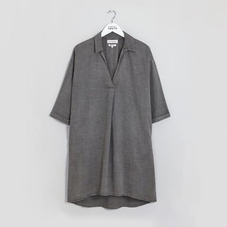 NATIVE YOUTH Cosmos Shirt Dress Grey - XS