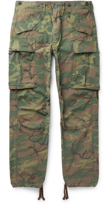 Ralph Lauren RRL Slim-Fit Tapered Camouflage-Print Cotton-Ripstop Cargo Trousers