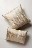 Anthropologie Plaited Metallics Pillow
