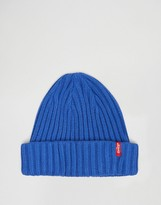 Levis Levi's Ribbed Beanie In Blue