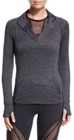 Beyond Yoga Featherweight For It Pullover, Black Steel