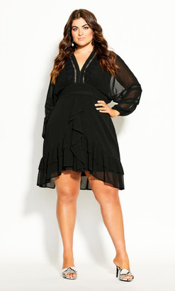 City Chic Sweetheart Dress - black