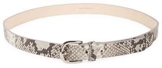 Isabel Marant Zap Exotic Python Printed Leather Belt