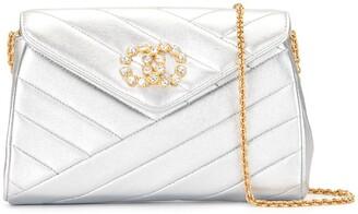 Chanel Pre Owned Bias Quilt Chain Shoulder Bag