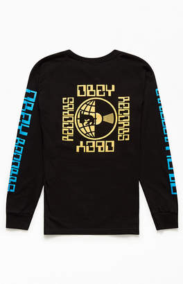 Obey Worldwide Records Long Sleeve T-Shirt