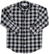 Baby CZ Buffalo-Checked Button-Front Shirt-NAVY