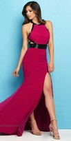 Mac Duggal Keyhole Beaded Two Tone Dress