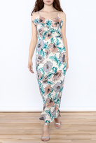 Everly Painted Flower Maxi Dress