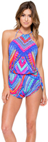 Luli Fama Star Girl Engineered Backless Romper In Multi-Color (L527866)