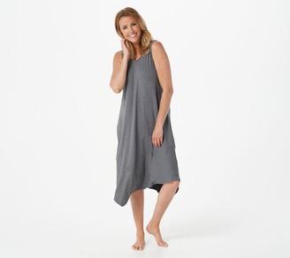 Cuddl Duds Flexwear Asymmetric Color Block Tank Dress