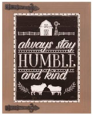 """Patton Wall Decor 16"""" x 20"""" Always Stay Humble and Kind Wood Wall Sign Wood Panel Brown/Bronze"""