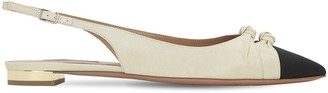 Aquazzura 10mm Mondaine Grosgrain Sling Back Flats
