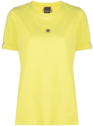 Lorena Antoniazzi beaded star patch T-shirt