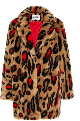 Apparis Ness Printed Faux Fur Coat