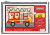 Chronicle Books Boy's Mudpuppy Firetruck Puzzle Pouch Puzzle