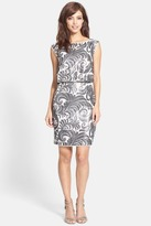 Adrianna Papell 41900150 Sequin Blouson Sheath Dress