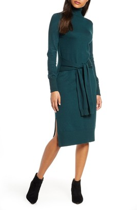 Brinker & Eliza Long Sleeve Turtleneck Sweater Dress