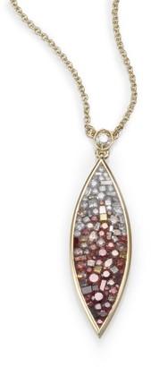 Marquis Raspberry Diamond & 18K Yellow Gold Ombre Pendant Necklace