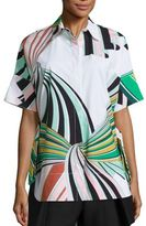 Emilio Pucci Printed Cotton Poplin Shirt
