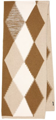 Joseph Argyle merino wool scarf
