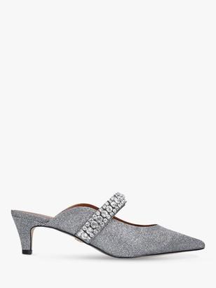 Kurt Geiger Dutchess Embellished Kitten Heel Mules