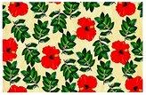 "Kess InHouse Sreetama Ray ""No More Peonies"" Red Green Decorative Doormat"