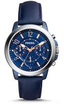 Fossil Gwynn Chronograph Blue Leather Watch