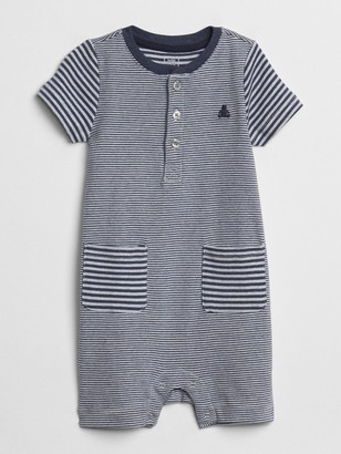 Gap Baby First Favorite Stripe Pocket Shorty One-Piece