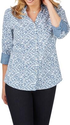 Foxcroft Mary Winding Vines Print Shirt