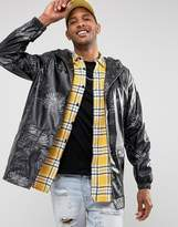 D-struct Water Resistant Festival Printed Jacket With Hood