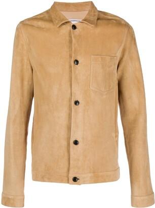 AMI Paris Suede Shirt Jacket