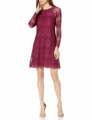 Adrianna Papell Women's Scalloped Lace Trapeze