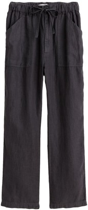 Alex Mill Pull On Linen Pant in Asphalt