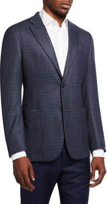 Emporio Armani Men's Micro-Pattern Wool Sport Jacket