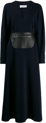 Lanvin Zipped Belted Maxi Dress