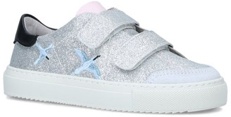 Axel Arigato Leather Glitter Clean 90 Bird Sneakers
