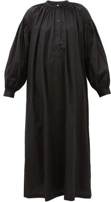 SU PARIS Mayunga Cotton-poplin Tunic Dress - Black