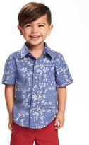 Old Navy Printed Poplin Shirt for Toddler